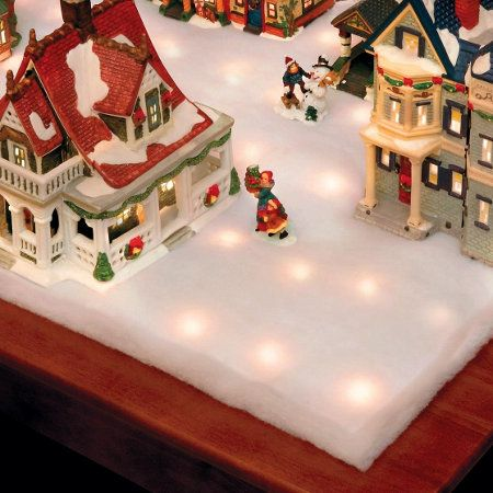 Lighted Snow Blanket Indoor Christmas Decorations Christmas Town Hanging Christmas Lights
