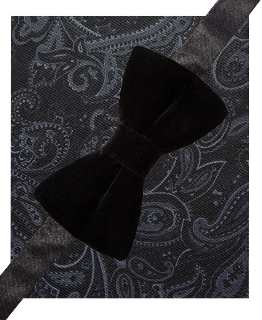 c126eb1ff759 Alfani Spectrum Velvet Pre-Tied Bow Tie and Pocket Square Set, Only at  Macy's