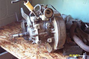 Complete 244cc Robin EZGO 2 stroke engine ,needs freshened
