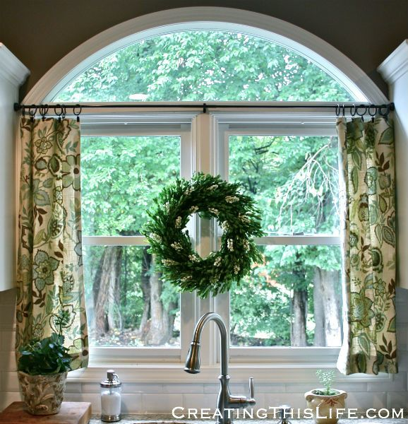No Sew Cafe Curtains To Sew For My Kitchen/breakfast Room