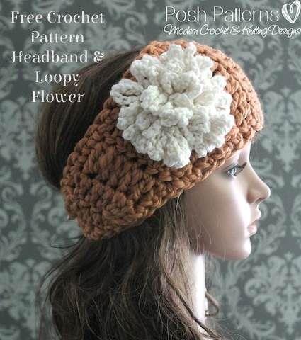 Free Crochet Headband Pattern   Crochet headband pattern, Crocheted ...