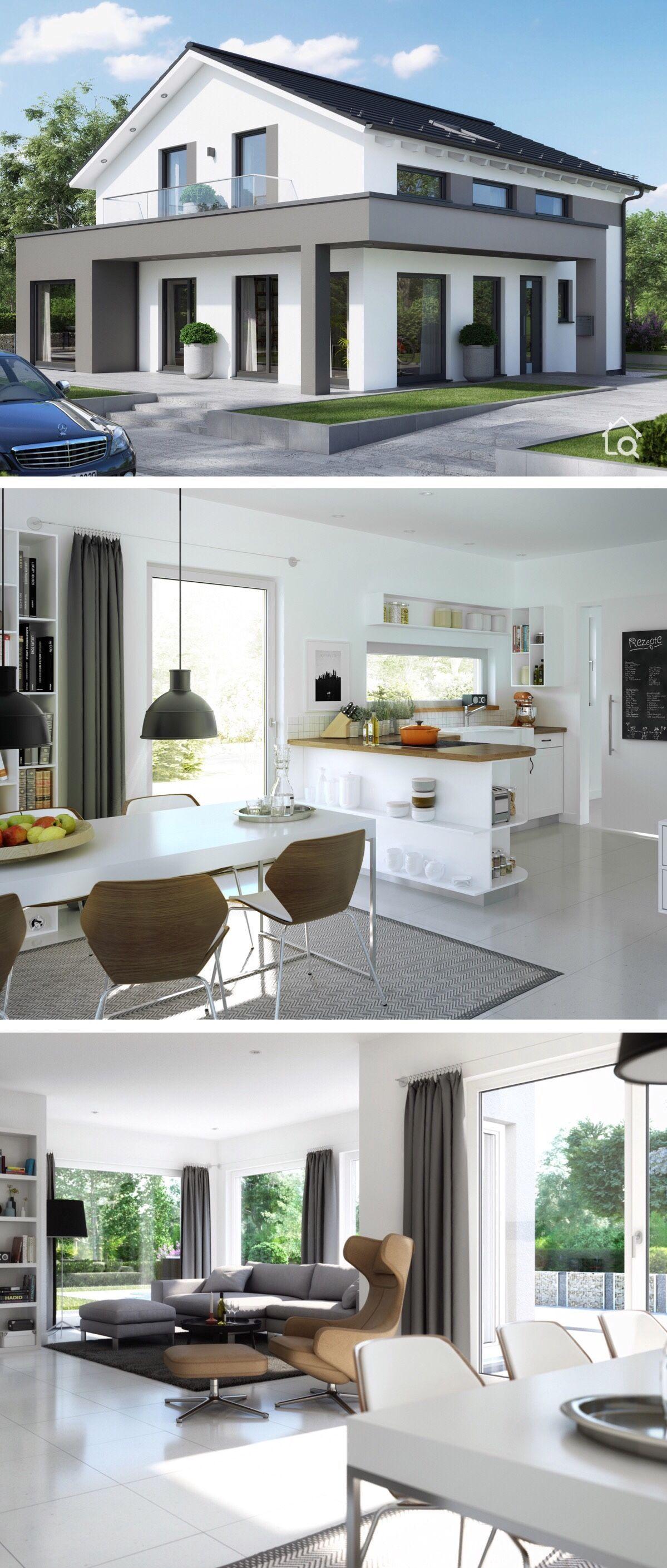 Modernes Haus Design mit Satteldach & Erker