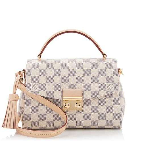 eb4e0287fde8 Louis Vuitton Damier Azur Croisette Shoulder Bag