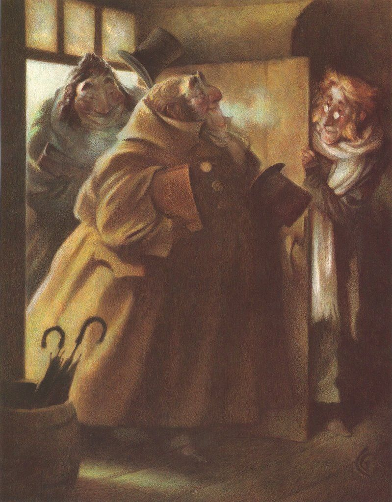 "Carter Goodrich. Illustration from the book ""A Christmas Carol"", 1996. | Carter Goodrich ..."