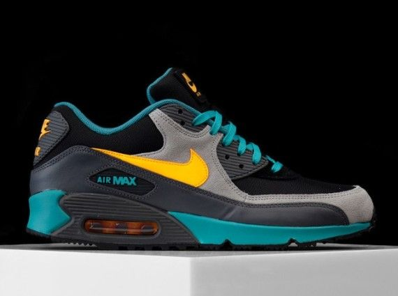 finest selection 5ac96 14dca Nike Air Max 90 Winter PRM – Teal – Grey – Volt