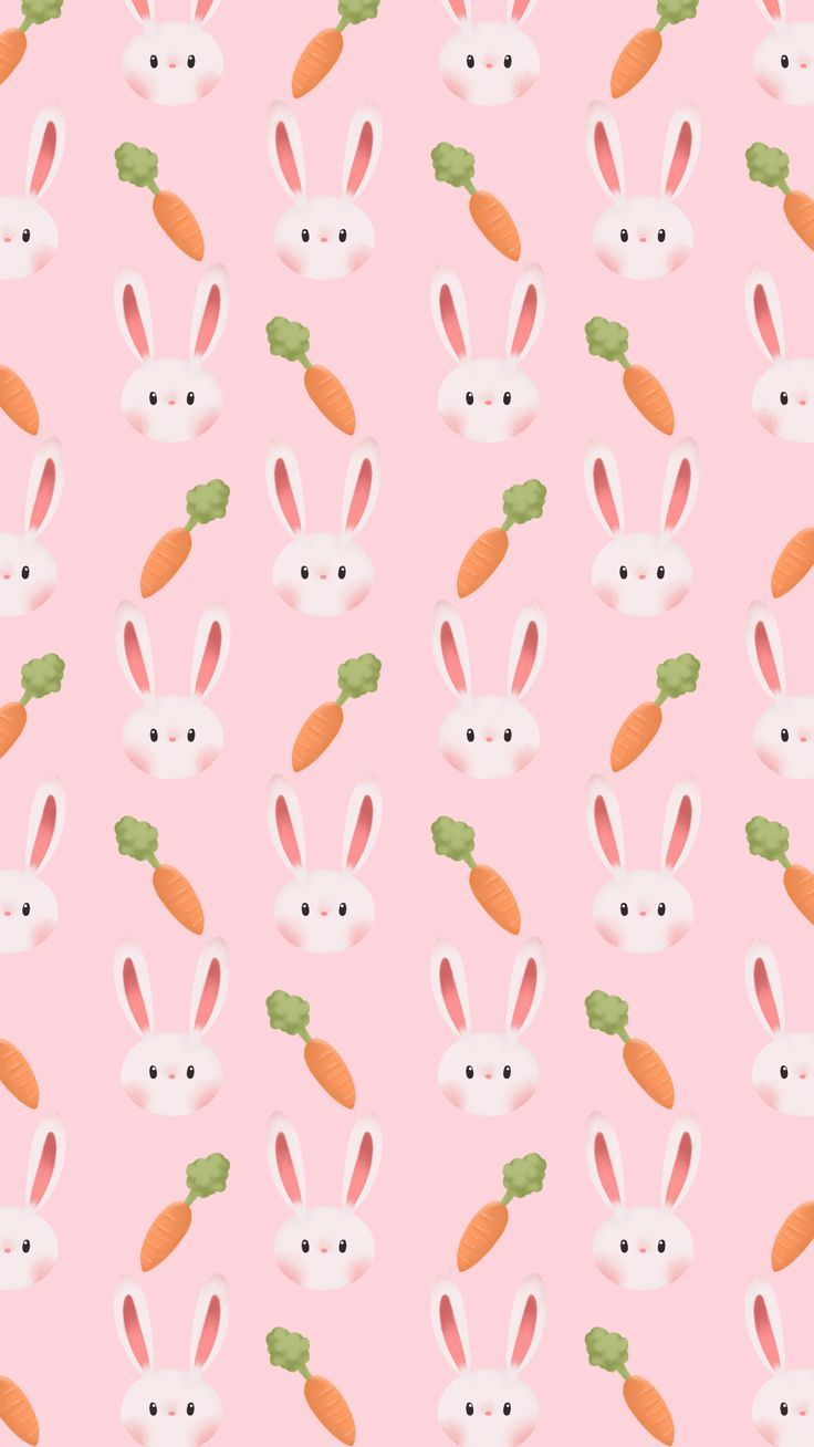 19 Cute Easter Wallpapers For Iphone With Eggs Bunnies And Carrots Rabbit Wallpaper Happy Easter Wallpaper Bunny Wallpaper