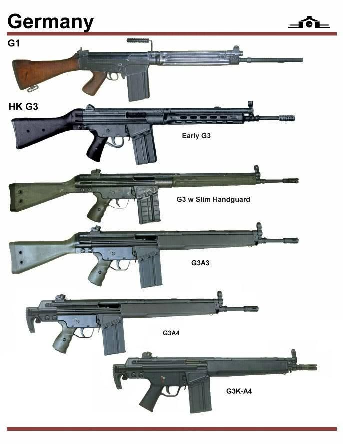 Germany: G1, HK G3 | weaponry | Guns, Weapons guns, Military