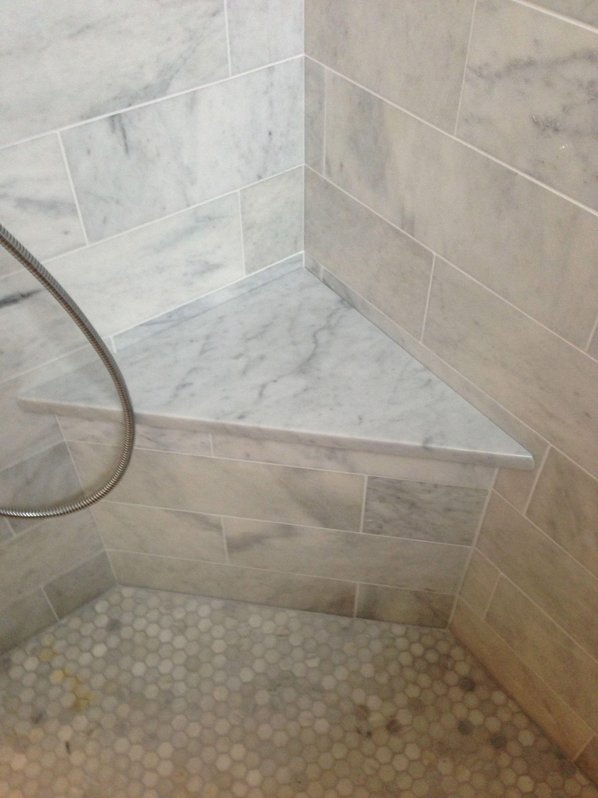 Beautiful Tiled Shower Bench
