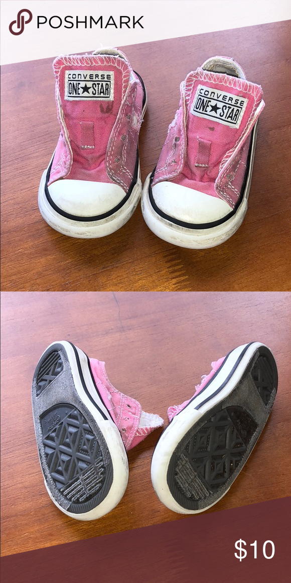 bdcc5cb2c26d Pink converse tennis shoes - sneakers Adorable used pink Converse One  Stars. Toddler size 5