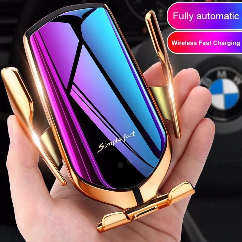 Wireless Car Charger Automatic Clamping Phone Holder In 2020 Car