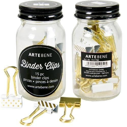 Metallic Binder Clips By Artebene In A Glass Jar Pretty