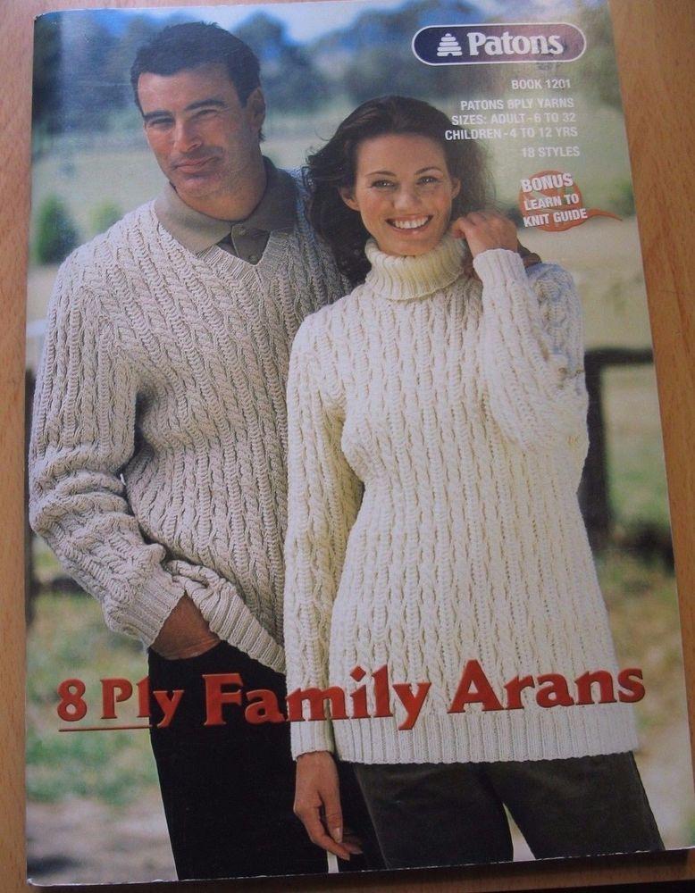 Patons knitting pattern no.1201 adult sizes 6-22 Children 4-12years ...