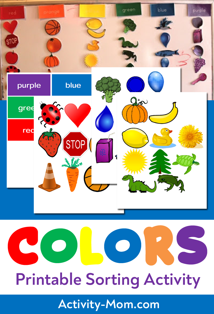 Color Sorting Printable Color Sorting Activities Preschool Color Activities Color Activities
