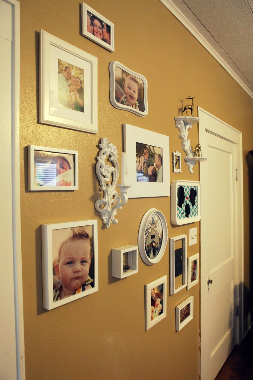 frames all same color for cohesive look | gallery wall | Pinterest ...