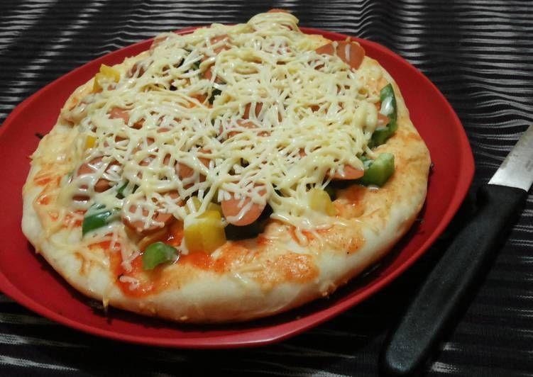 Resep Pizza Teflon Anti Gagal Oleh Uji Resep Resep Makanan Dan Minuman Resep Makanan
