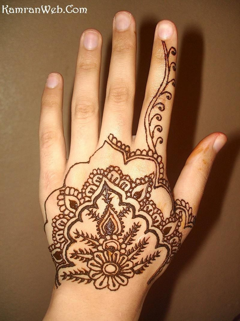Simple Henna Tattoo On Hand: Easy Arabic Henna Designs Hd Simple Henna Tattoo On Left