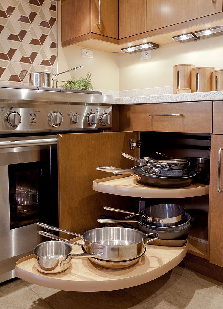 Small-contemporary-kitchen-features-corner-cabinet-with-Lazy-Susan ...
