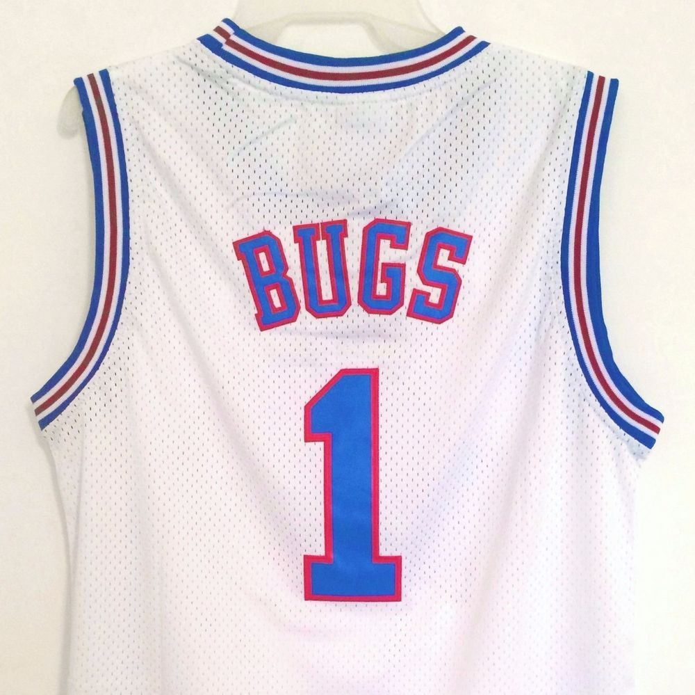 46ee5466631 Bugs Bunny 1 Space Jam Tune Squad Basketball Jersey White S M L XL XXL in  Clothing