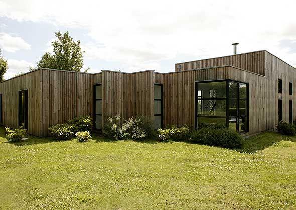 Superbe Maison Toit Plat Cubique Bois Coste | Plans Maison | Pinterest | Building  Ideas, Patios And Construction Grandes Images