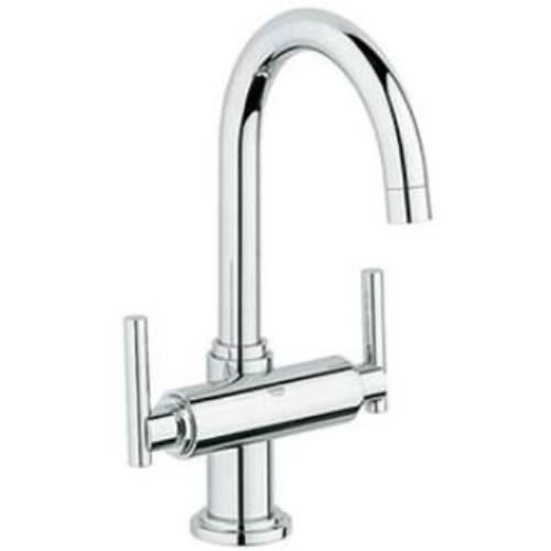 Grohe 21027 Atrio Low Spout One Hole Bathroom Faucet with Trio Lever ...
