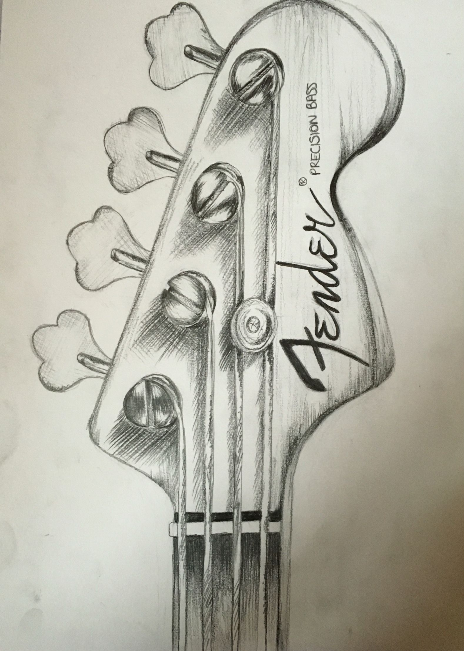 Fender Guitar Pencil Drawing By Me Guitar Drawing Pencil