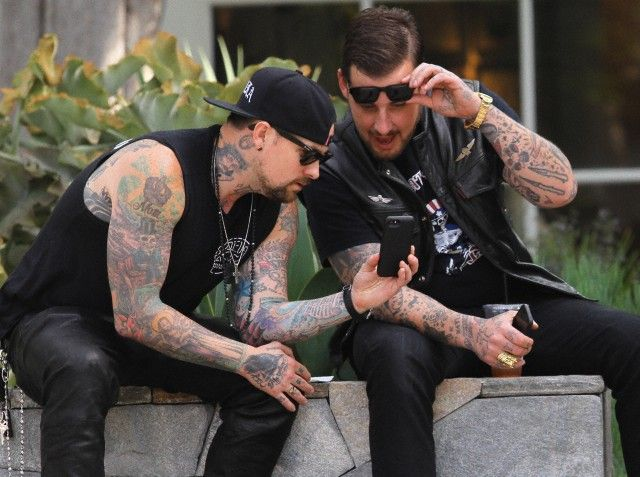 Benji Madden spotted outside Isabel Marant with Joel Madden and Wes Lang (April 21, 2014) Post 2 of 2. Sorry Joel fans, there are no other photos of Joel! :(