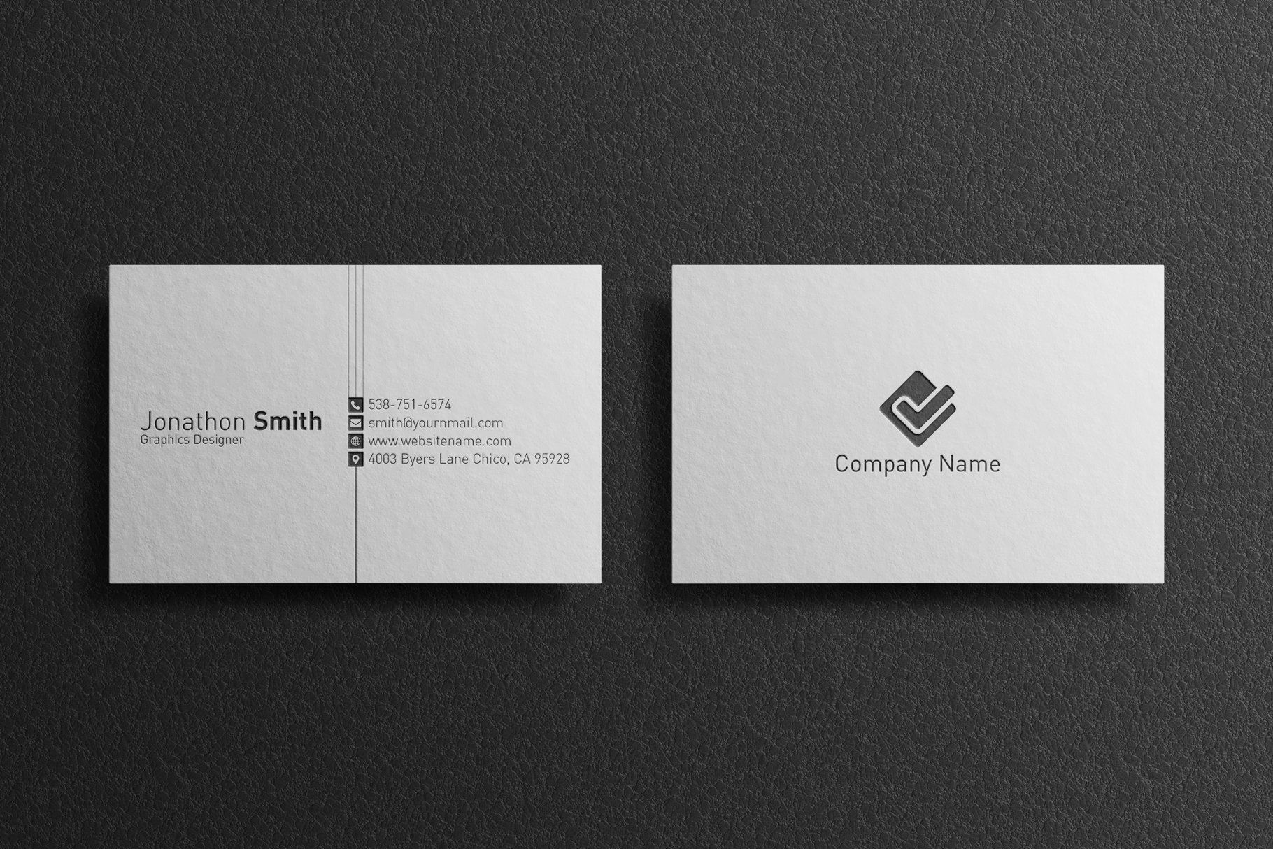 Corporate Business Card Business Card Template Design Business Card Design Inspiration Business Cards Creative