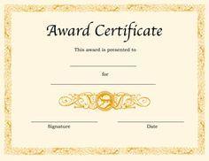 Award Certificate Template  L    Certificate Template