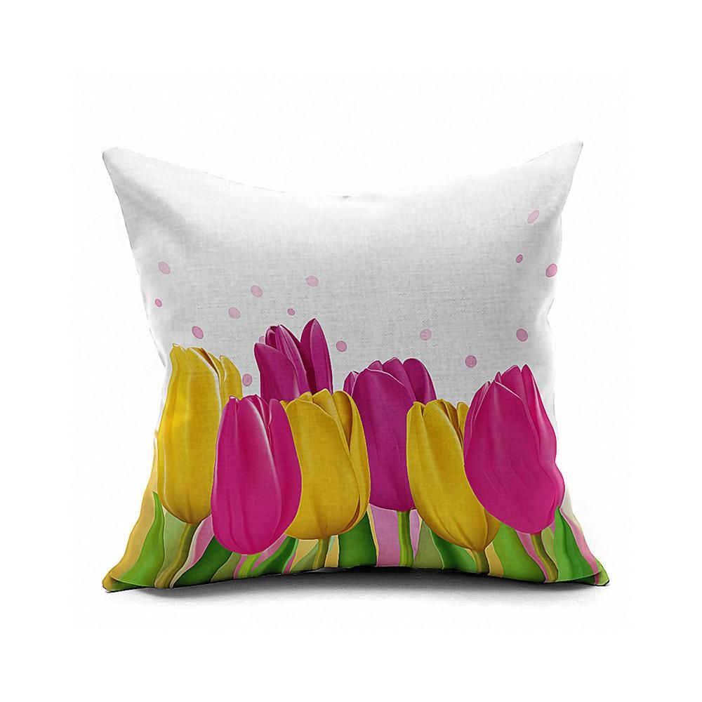 Cotton Flax Pillow Cushion Cover Geometry    JH346 - 4PS