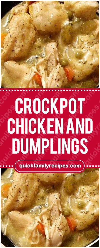 Crockpot Chicken and Dumplings #crockpot #chicken #dumplings #easyrecipe #delicious #foodlover #homecooking #cooking #cookingtips #crockpotchickeneasy