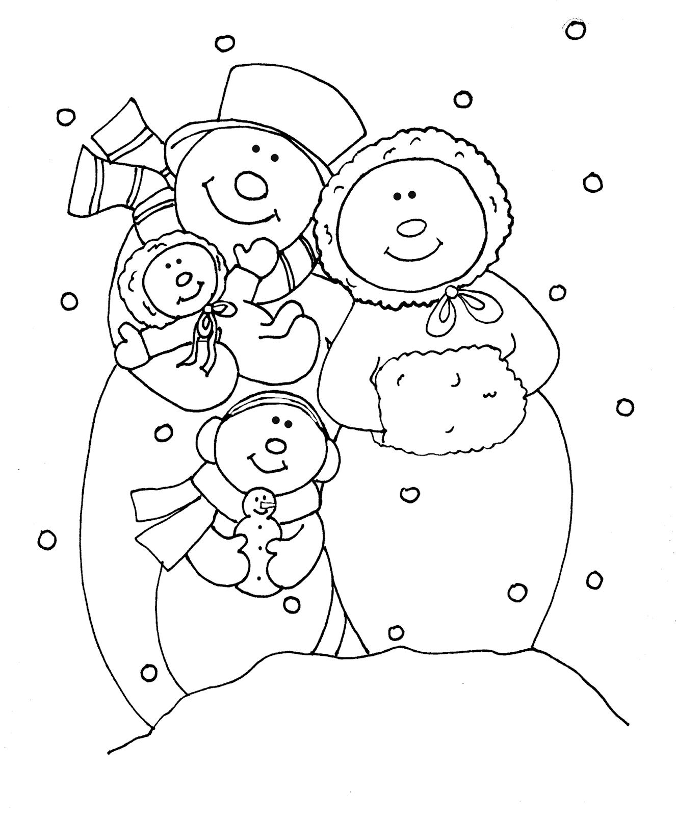 Free Dearie Dolls Digi Stamps: Snowman Family | Snowmen | Pinterest ...