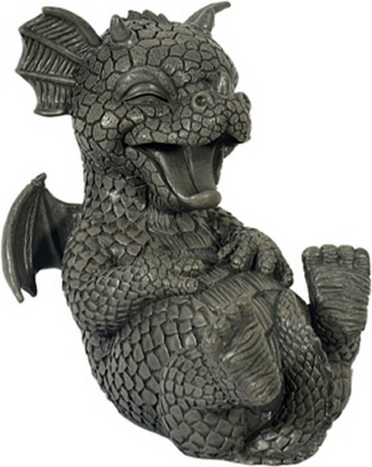 Ars Bavaria kringelt against Laugh Dragon Figure Garden Ornament
