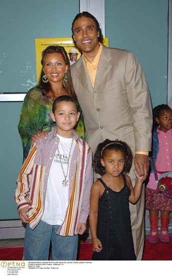 With Then Husband Rick Fox And Kids At The Johnson Family Vacation