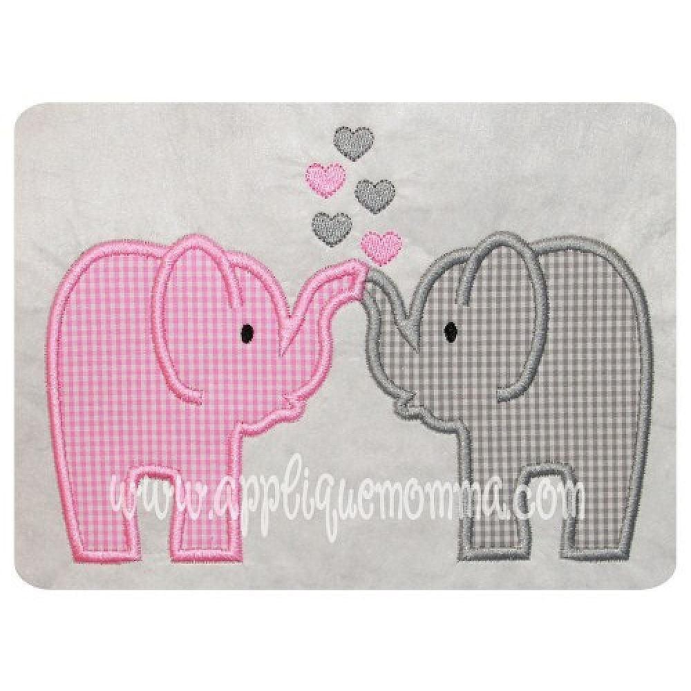 Love Elephants Applique Design Comes in sizes for the 4x4 hoop, 5x7 ...