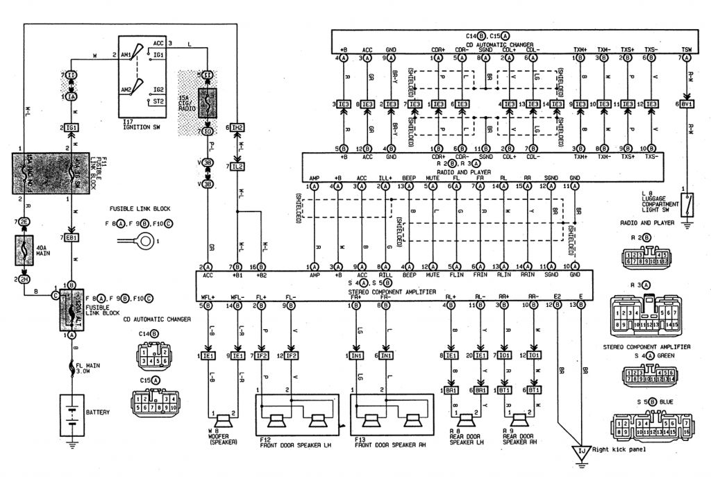 toyota camry wiring diagram with regard to invigorate toyota camry rh pinterest ca 1995 Toyota Camry Window Wiring Diagram 2001 Camry Wiper Wiring Diagram