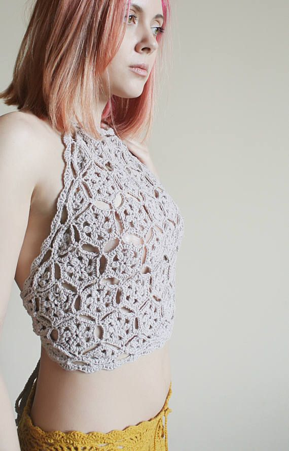 CROCHET PATTERN - Crochet Crop Top Crochet Halter Top Pattern ...