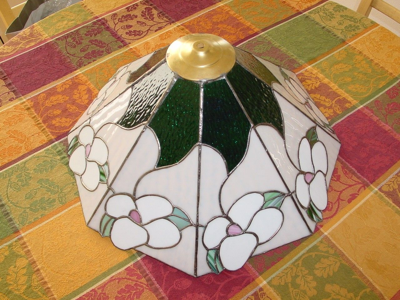 Custom Stained Glass Dogwood Lamp Shade By Chapman Enterprises