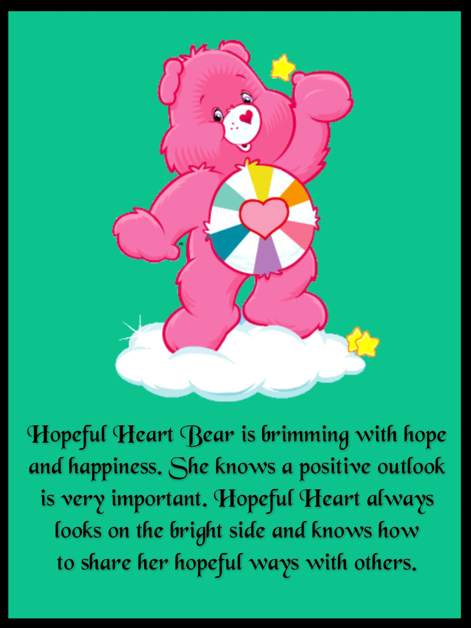 Hopeful Heart Bear is brimming with hope and happiness ...