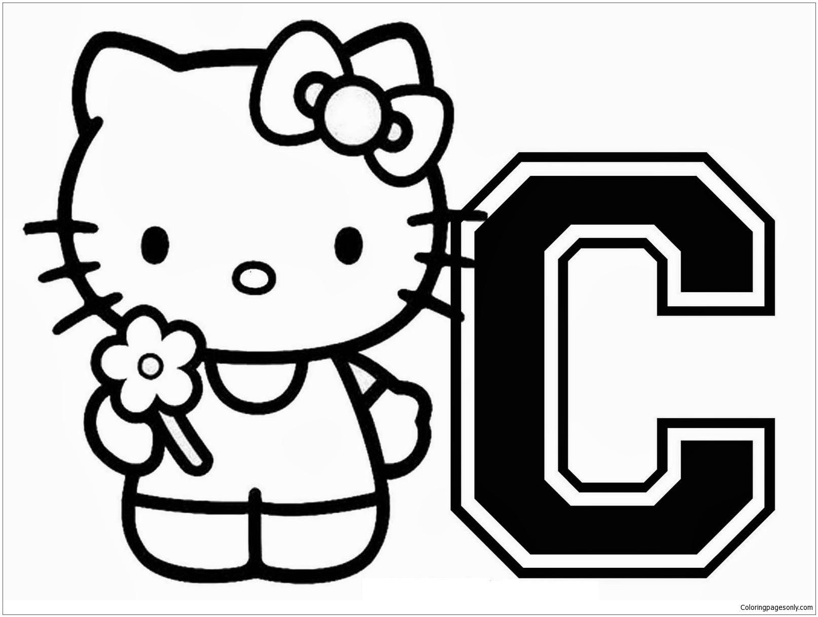 10 Letter C Coloring Pages Free Coloriage Hello Kitty Chat Hello Kitty Coloriage Gratuit