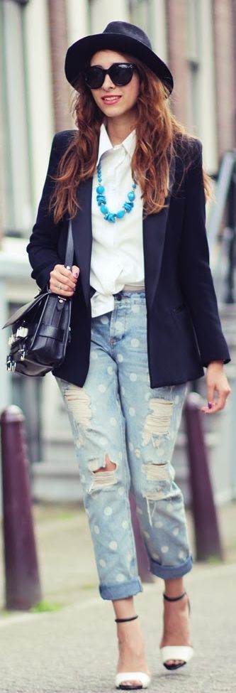 Ripped Jeans  by Preppy Fashionist