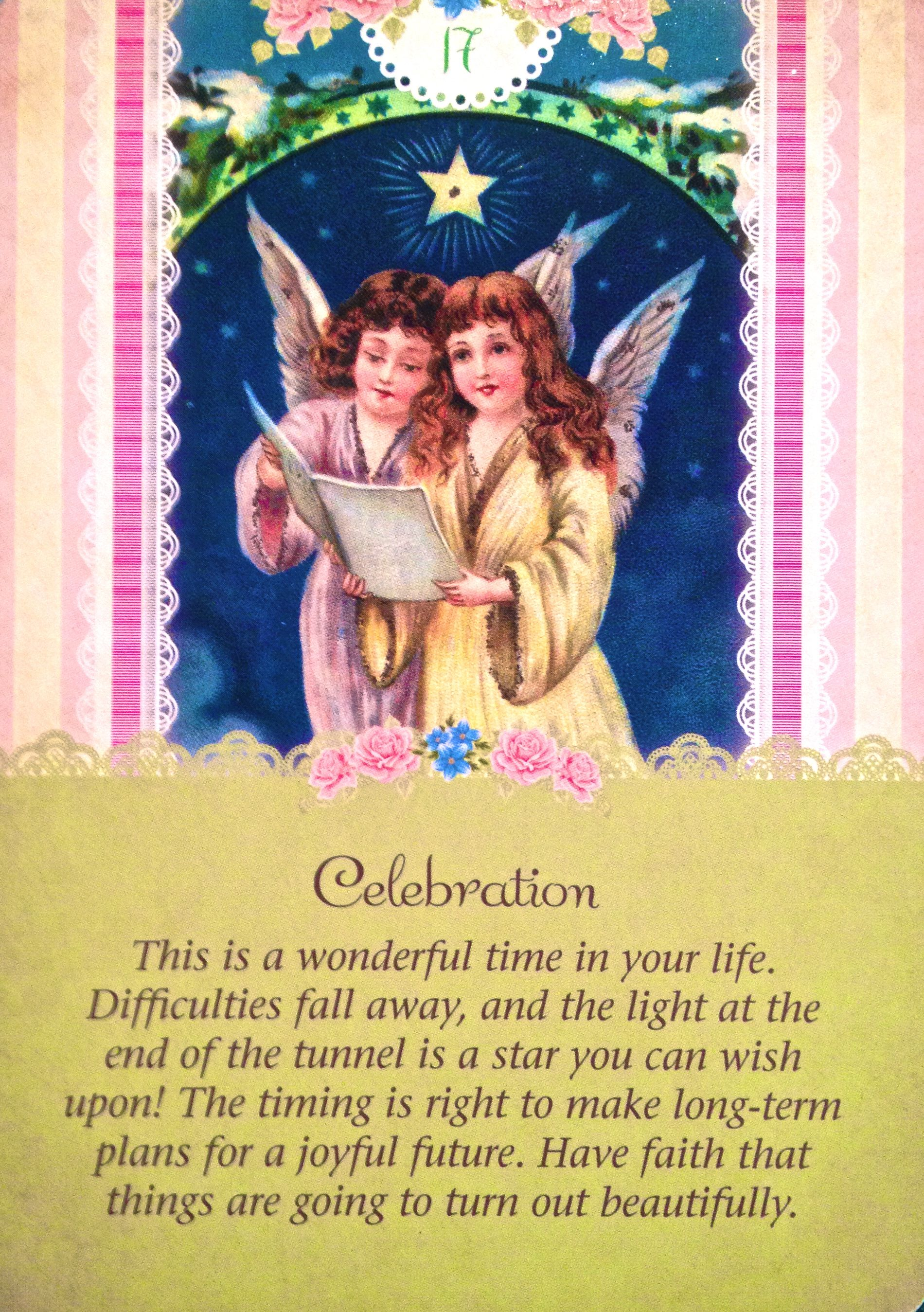 Daily Angel Oracle Card Celebration From The Guardian: Daily Angel Oracle Card: Celebration, From The Guardian