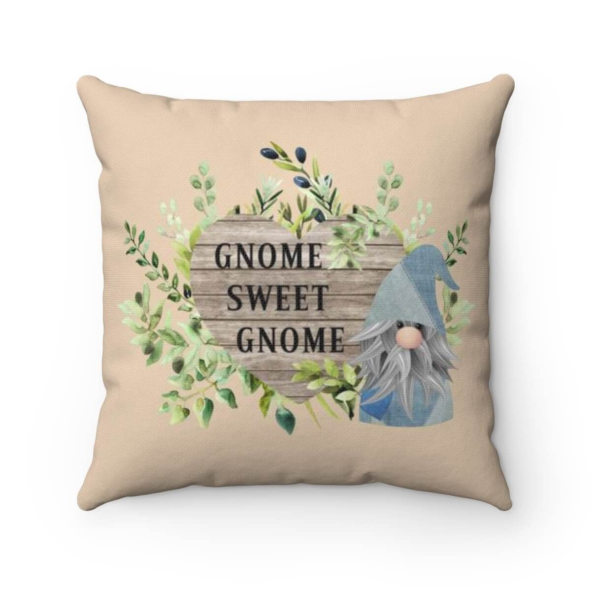 Gnome Sweet Gnome - Pillow - 18X18 / brickred / Cover + Pillow Insert
