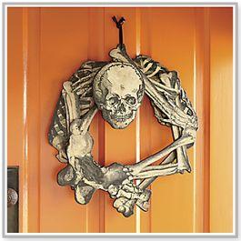 Skeleton Wreath from Country Door. #halloweendecor http://www.countrydoor.com/Seasonal/Halloween/skeleton-wreath-162.pro?medium=social&source=facebook&code=shopsept2014&link=skeletonwreath&cm_mmc=facebook-_-shop-_-shopsept2014-_-skeletonwreath