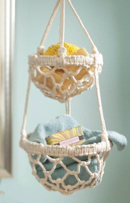 diy macrame hanging basket from home decor. Black Bedroom Furniture Sets. Home Design Ideas