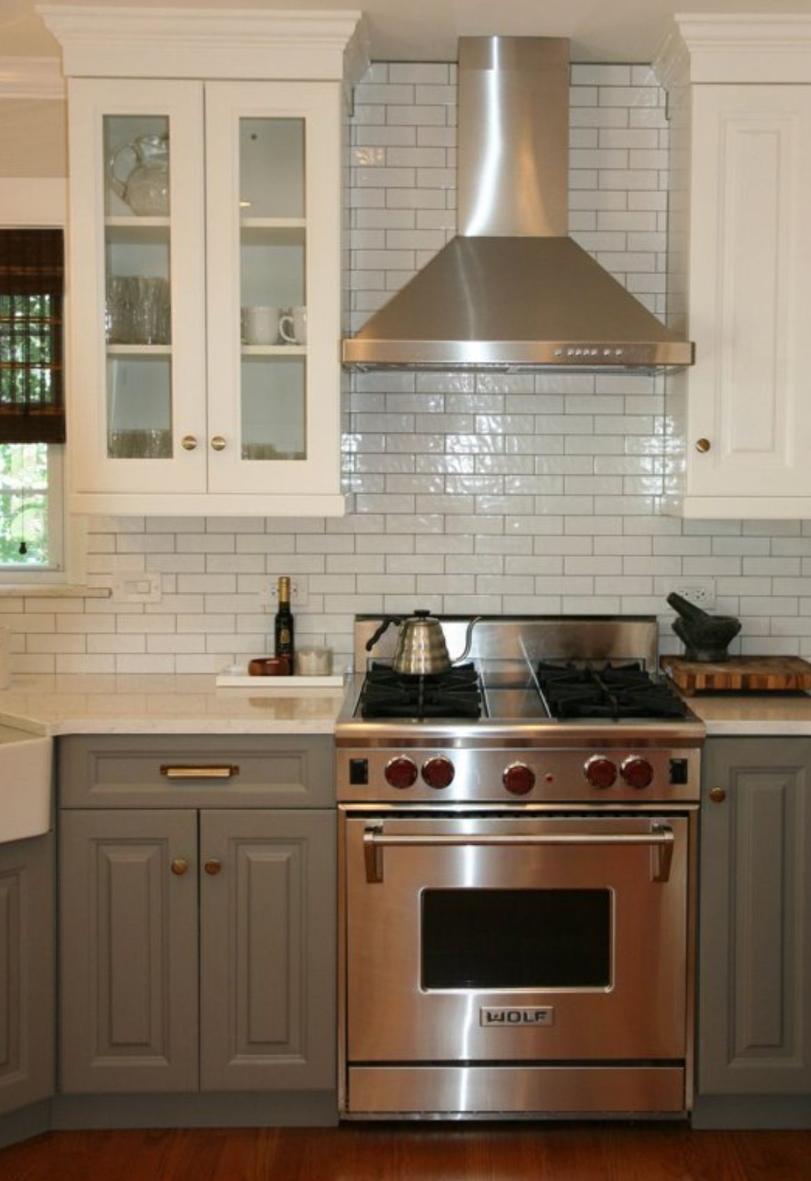 Love the mismatched cabinets! | Kitchen remodel small ...