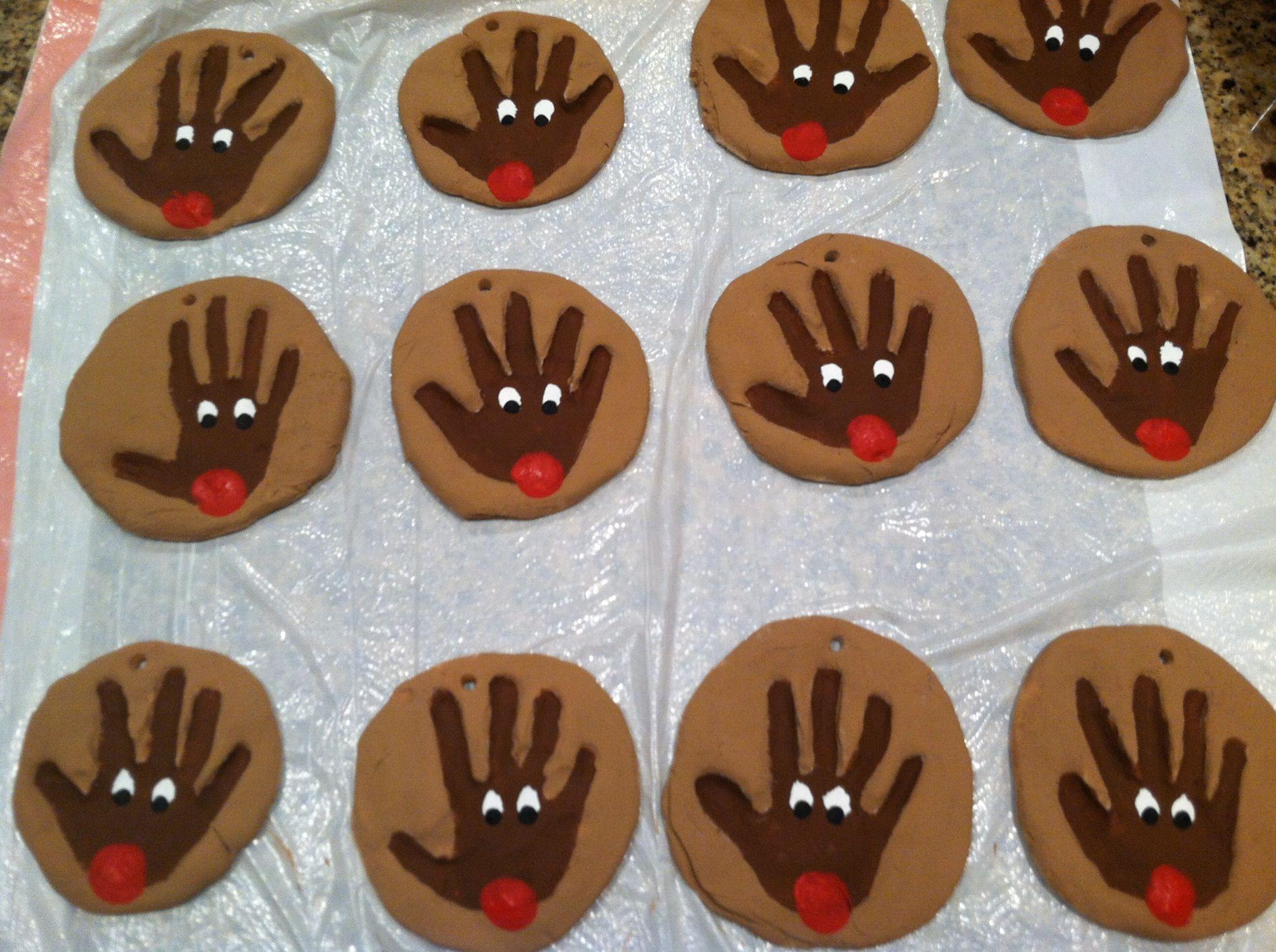 Reindeer Handprint Preschool Parent T