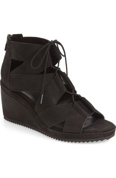 Eileen Fisher 'Dibs' Lace-Up Wedge (Women) | Nordstrom