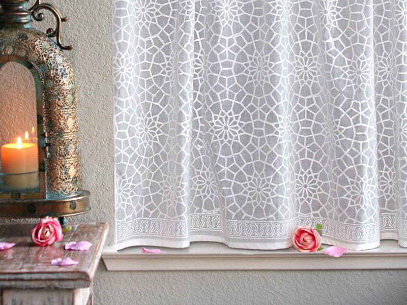 White Kitchen Curtains Moroccan Kitchen Curtains Lattice Trellis Endearing White Kitchen Curtains Inspiration