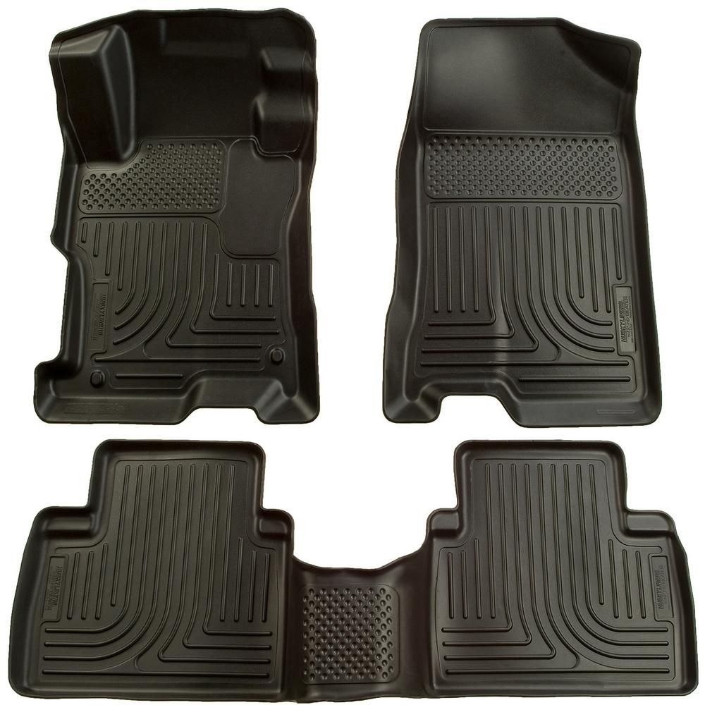 Husky Liners Front 2nd Seat Floor Liners Footwell Coverage Fits 04 09 Prius