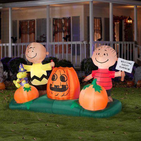5u0027 airblown inflatables animated peanuts pumpkin patch halloween